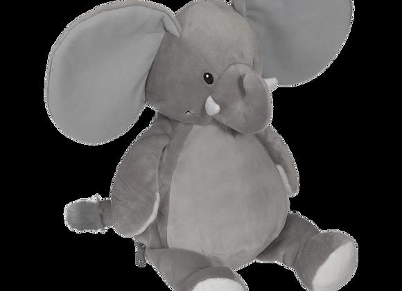EMBROIDER BUDDY Ellie Elephant Buddy Grey Personalized Gift Stuffed Anim