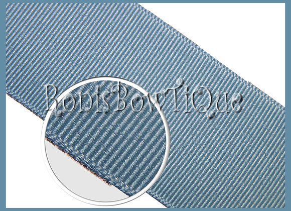 French Country Blue Solid Grosgrain Ribbon