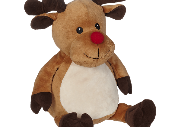 EMBROIDER BUDDY Randy Reindeer Buddy Embroider Personalized Gift Stuffed Animal