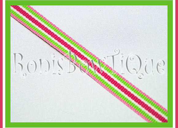 "3/8"" Sherbert Swirl Stripe Ribbon - 1 YARD"