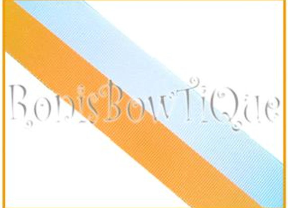 White Gold Bi Stripe Cheer Collegiate Ribbon