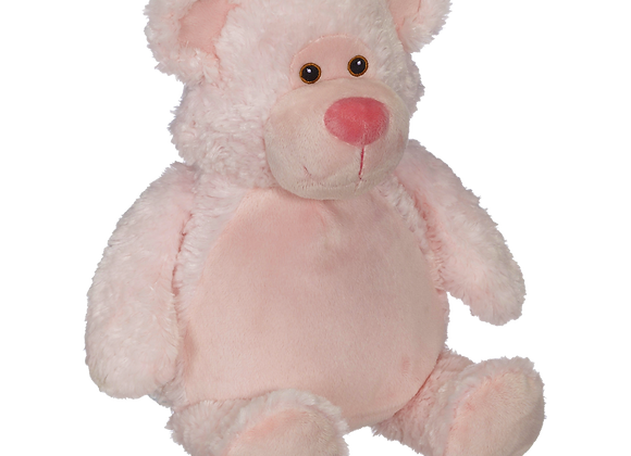 EMBROIDER BUDDY Bobby Buddy Bear, PINK Personalized Gift Teddy Bear