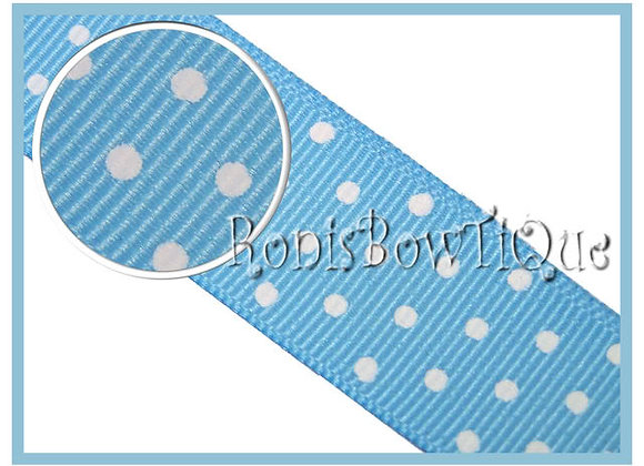 Baby Blue with White Swiss Dots RIBBON