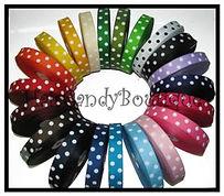 Polka Dot Ribbon, Dot Grosgrain, Dot Ribbon Lot, Polka Dot Hair Bows, Sugar Dot, Candy Dot Ribbon, Large Dot Ribbon