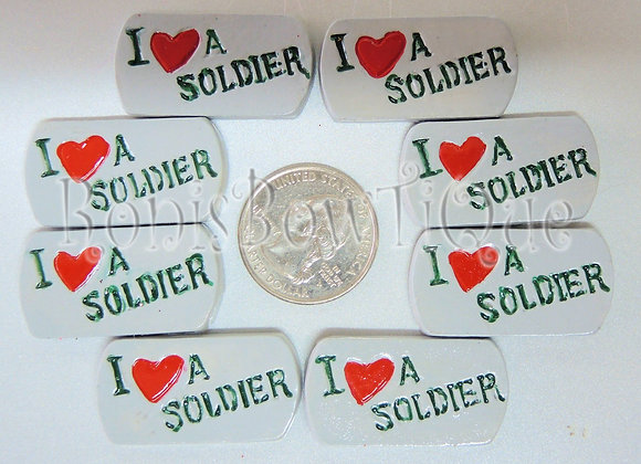 MILITARY DOG TAG I LOVE A SOLDIER