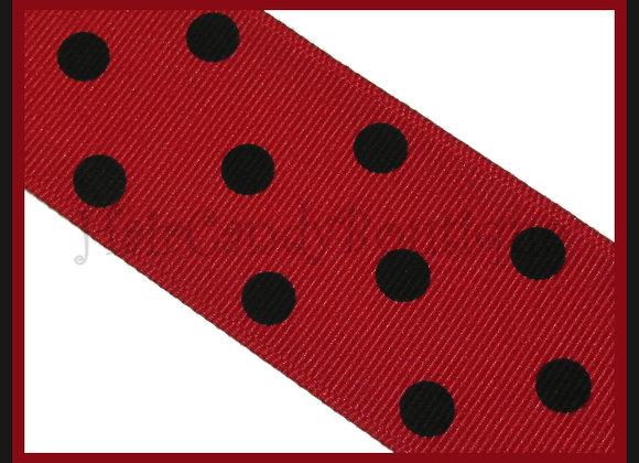Red with Black Polka Dots RIBBON