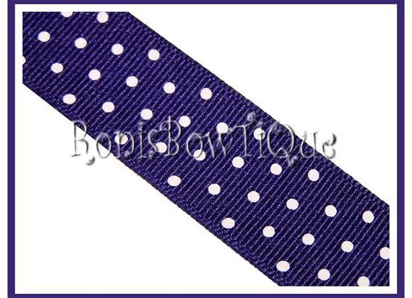 Purple with White Swiss Dots RIBBON