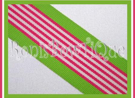 Hot Pink Hawaiian Twist Stripe Ribbon