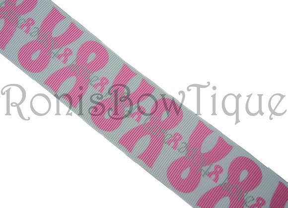 "1.5"" BREAST CANCER AWARENESS RIBBON"