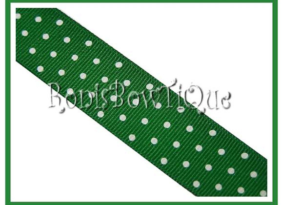Emerald Green with White Swiss Dots RIBBON