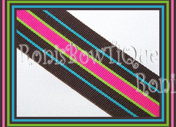 Bermuda Hot Stripe Ribbon