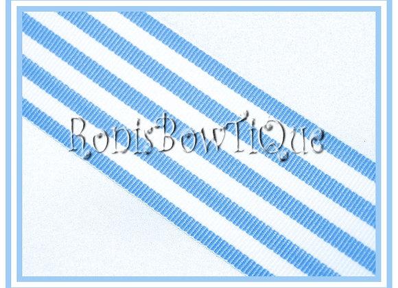 Baby Blue Monarch Stripe Ribbon 1 YARD