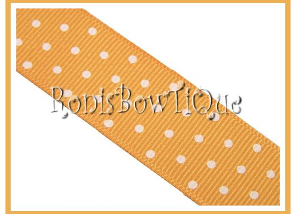 Gold with White Swiss Dots RIBBON