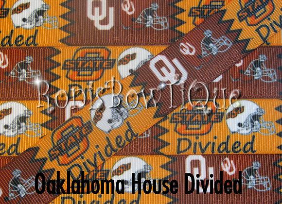OKLAHOMA SOONERS COWBOYS HOUSE DIVIDED