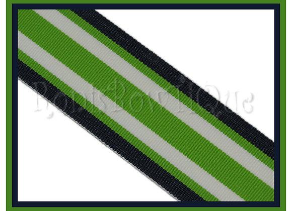 Navy Lime Surfboard Stripe Ribbon
