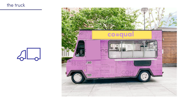 The coequal truck makes stops in major cities bringing together the people who need help with people who want to help. A team of trusted people will go around providing answers to questions at the truckstop.