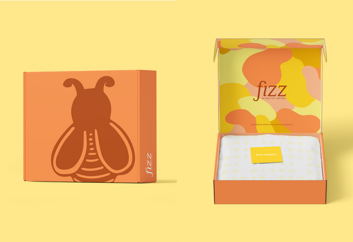 """The """"busy bee collection"""", made with bee pollen, honey, and hints of grapefruit."""