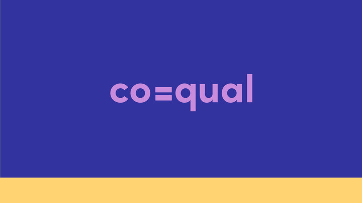 The logo I came up with uses the negative space of the equal sign to form the E in coequal. The equal sign will later be used in the branding of the company. Coequal means to be equal to which is a term immigrants can relate to. Immigrants don't want to be american but would like to be treated as equals.