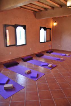 Small yoga studio
