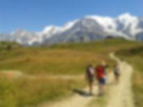 Chamonix yoga hiking randonnée raquette snowshoe trail guide