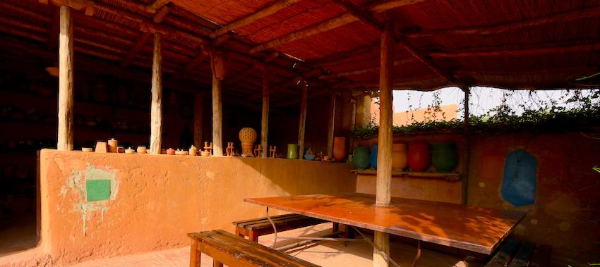 L'atelier de poterie et tadelakt