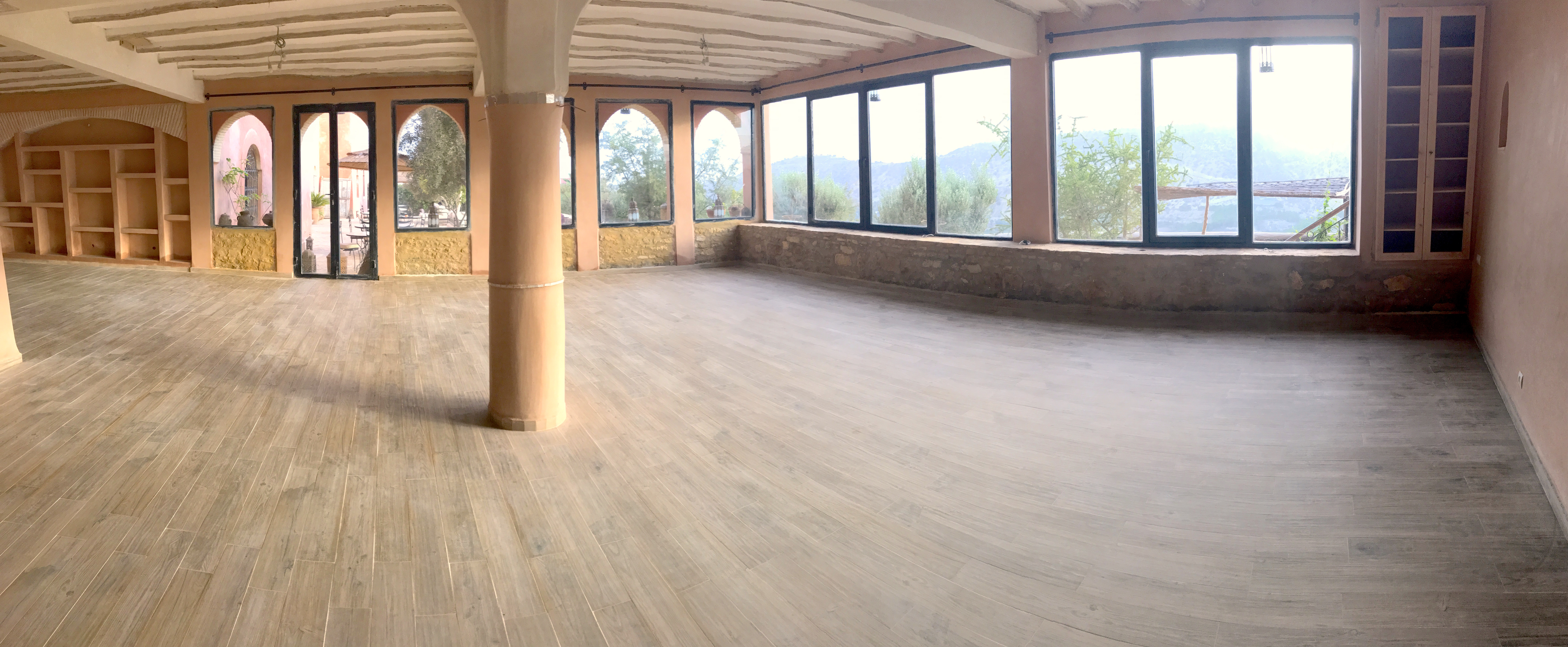 Large yoga studio