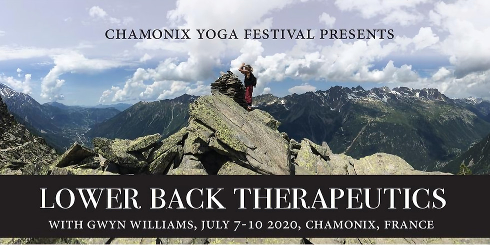 Post Festival - 4 Days Lower back therapy Trainning with G. Williams