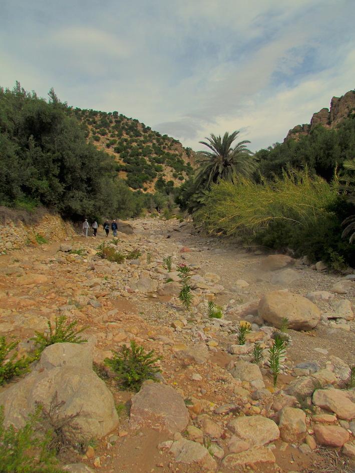 Vallée d'Azrarag près d'Atlas Kasbah