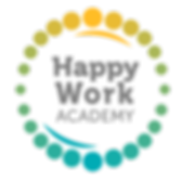 Happy Work Academy logo - colour - trans