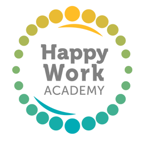 Happy Work Academy logo - colour - trans