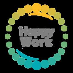Happy Work logo - colour - transparent b