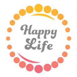 Happy Life logo - colour - transparent b