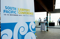 South Pacific Lawyers' Conference sign_0