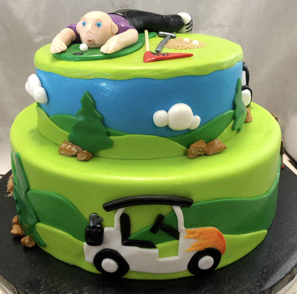 GOLF RETIREMENT THEME CAKE