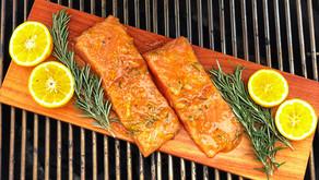 Orange and Whiskey Glazed Cedar Plank Salmon