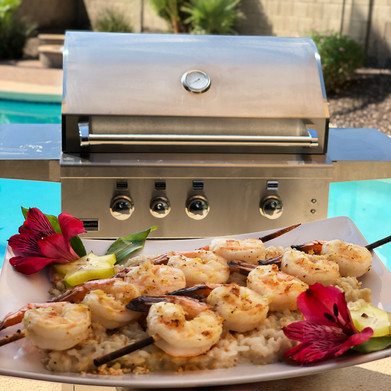 Broilmaster Grills: Grilled Hawaiian Garlic Shrimp with Coconut Lemongrass Risotto