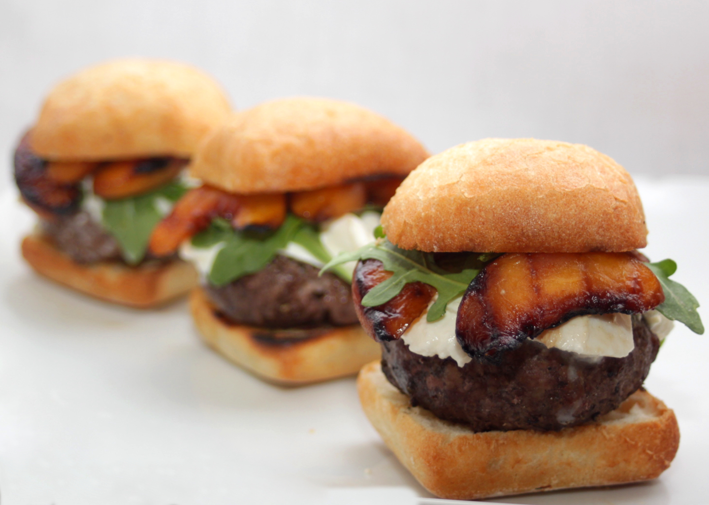 Grass-Fed Grilled Peach Sliders