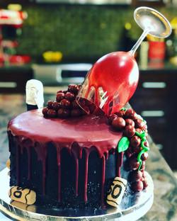 RED WINE DRIP CAKE
