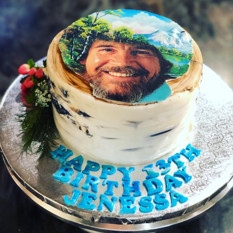 BOB ROSS BIRCH CAKE