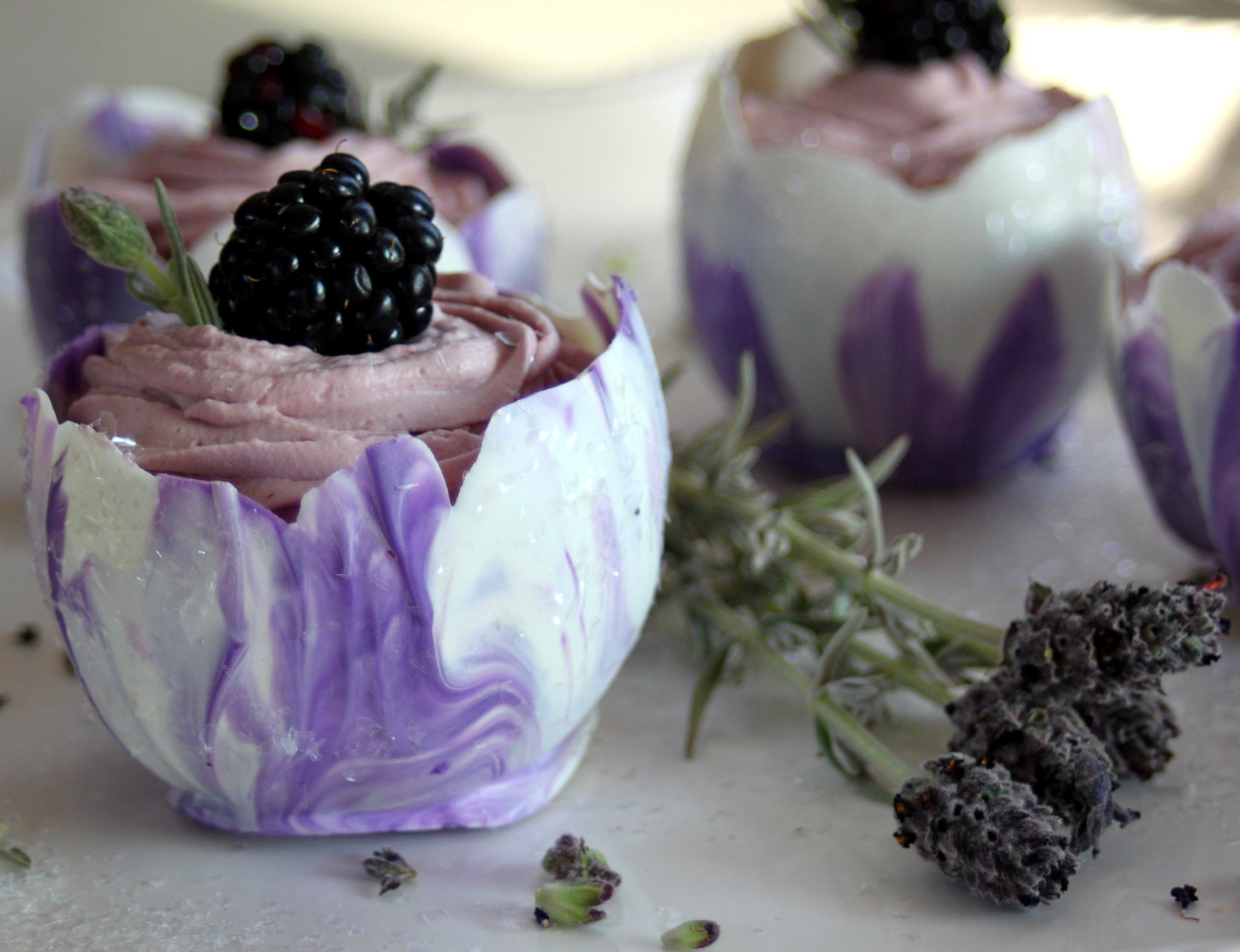 BLACKBERRY LAVENDAR LOTUS CUPS