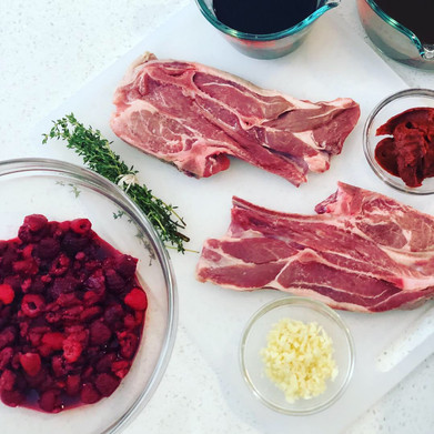 Easy Spring Dinners: Raspberry and Red Wine Aussie Lamb Shoulder Chops