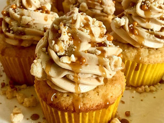 Golden Butter Cupcakes with Salted Caramel Buttercream