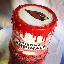 ARIZONA CARDINALS DRIP CAKE