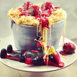 FAT CARDINAL CAKE