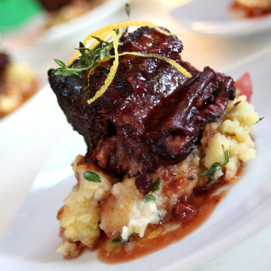 Raspberry & Red Wine Short Ribs