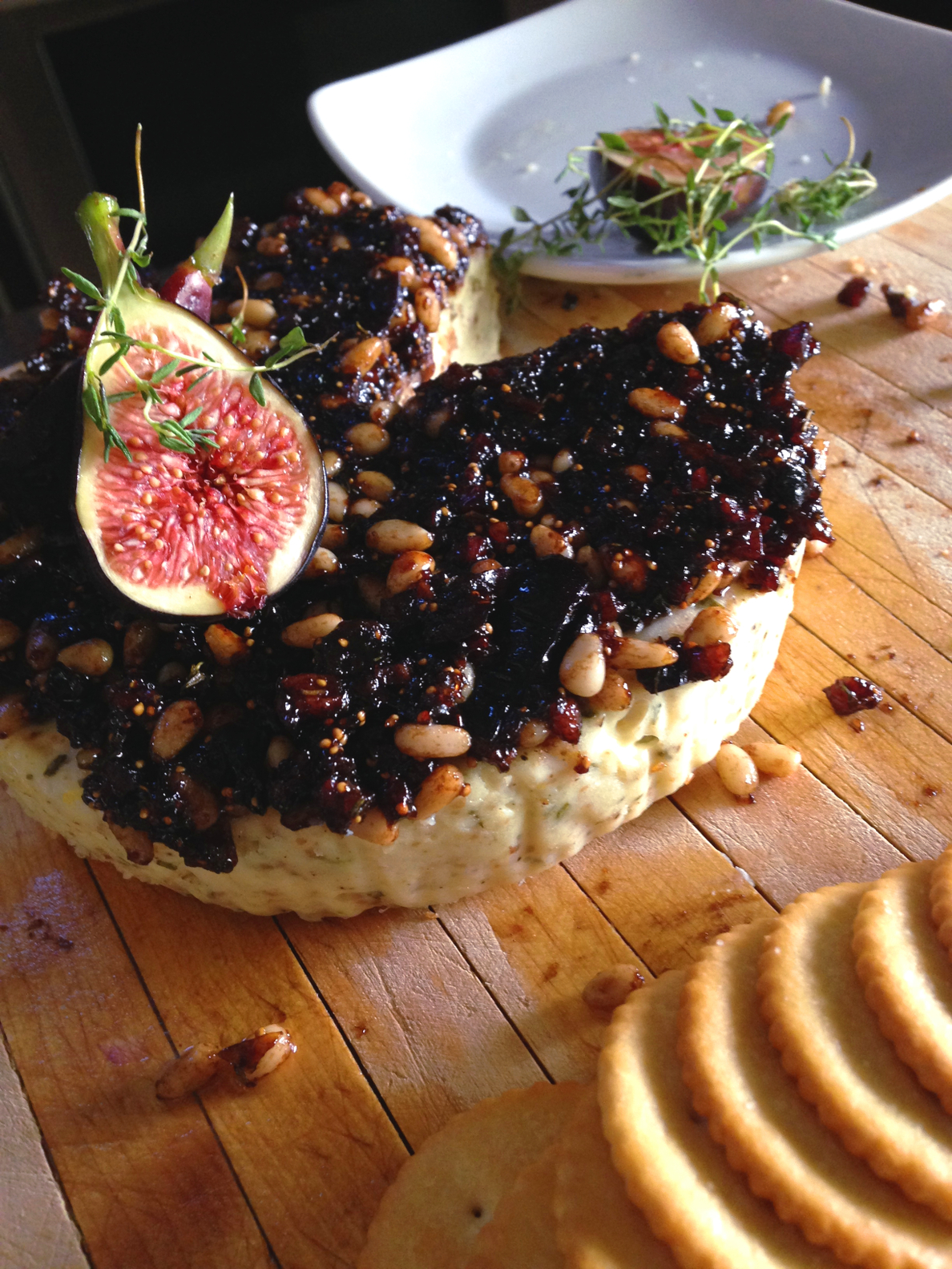 SAVORY PANCETTA AND FIG CHEESECAKE