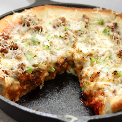 Family Game Day Foodie: In Too Deep Dish Pizza vs. Cast Iron Quesadilla Pie