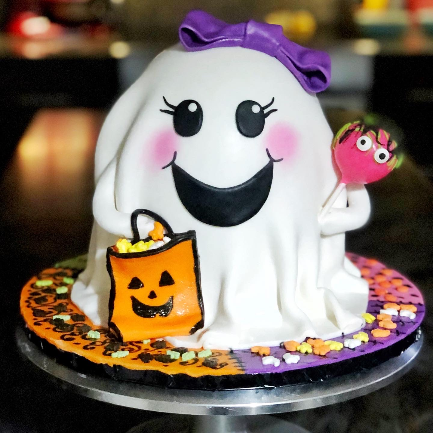 BABY GHOST GIRL CAKE