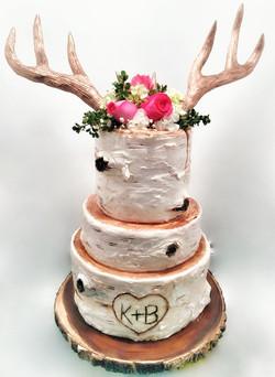 BOHO BIRCH ANTLER CAKE