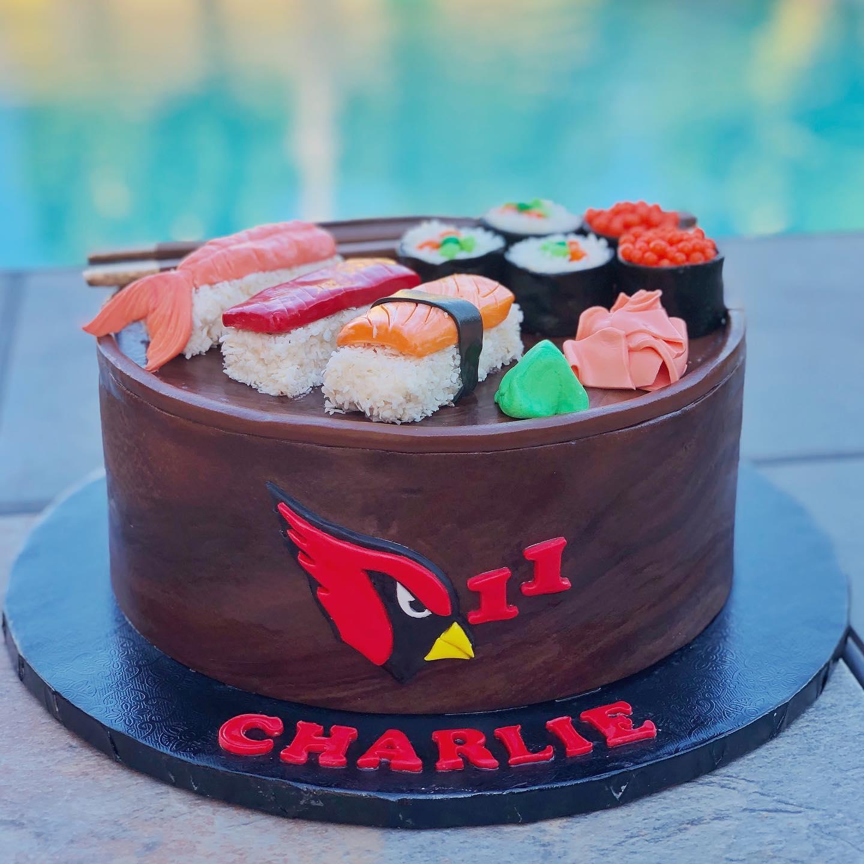 SUSHI CARDINALS CAKE